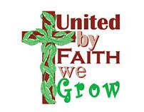United by Faith we Grow - building campaign logo