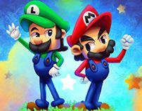 Mario and Luigi - fanart