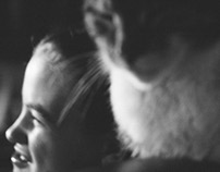Little sister and a cat