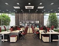 Amazing Office Interior Design: 3D Rendering