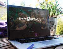 [eSports] Immortals - Website redesign