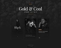 Gold & Coal Ui Kit
