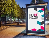 Bus Stop Poster Mockup Psd Download