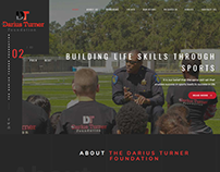 Darius Turner Foundation Website Design