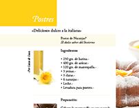 COOK BOOK DESIGN Cucina Italiana #Trattoria