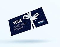 Gift voucher for streetwear store Nahodsa.sk