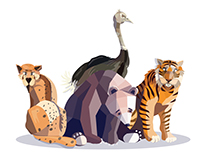 Animal illustrations - Thesis Project (continued)