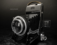 3D Model Vintage Camera IKonta 521/2 (Germany, 1938)