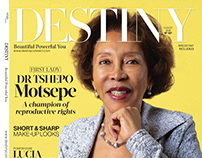 First Lady Cover Shoot for Destiny Magazine August 2018