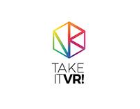 Projekt logo dla firmy Take IT VR!