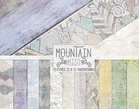 Mountain Mist Digital Paper Textures