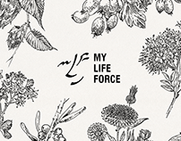 LOGO&ILLUSTRATIONS for MY LIFE FORCE brand
