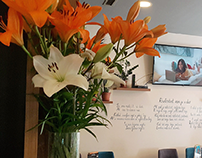 Handwritten massage on the wall