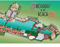 Broadway at the Beach map illustration