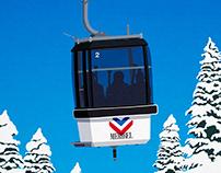 Meribel Ski Resort Wall Art Poster