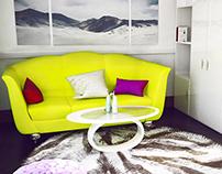 light simple room