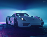Porsche 918 Spyder-Volumetric Lighting