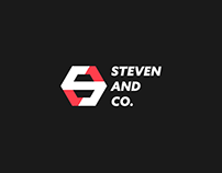 steven and co. logo design process