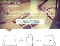Skeleboard Web Design Mockup