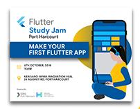 Banner Design for Flutter Study Jam, Port Harcourt