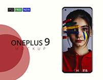 New OnePlus 9 FREE Phone Mockup