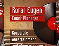 Business card for Event Manager (Визитка ведущего)