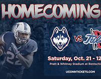 UConn Football Homecoming Game Graphic