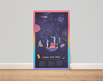 Father John Misty Tour Poster and Packaging Mechandise