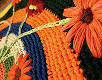 Carpets crochet embroidery