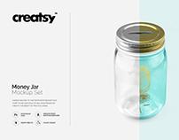 Money Jar Mockup Set