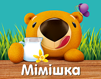 MIMISHKA. Ice Cream for Kids. Packaging and Hero