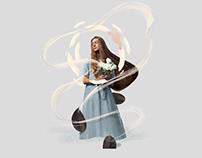 Digital collage illustrations