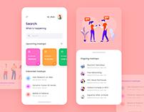UX/UI Meetup App Design