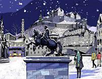 Alex Green - Hamilton & Inches Christmas Display