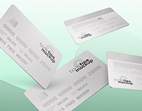 Free PSD Floating Credit Cards mockup