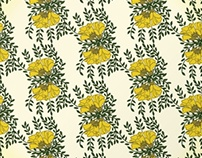 Kowhai Flowers Pattern