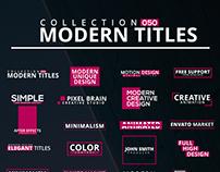 50 Modern Titles