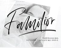 FREE | Familior Stylish Signature Font