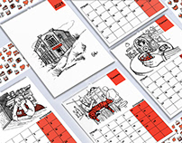 2021 calendar dedicated to bars, pubs and coffee houses