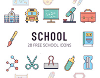 School Vector Free Icon Set