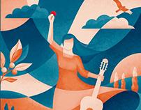 Diseño Afiches - Violeta Parra, FIC Valdivia