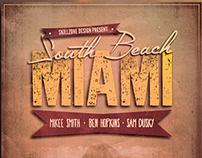 VINTAGE BEACH - Minimal vintage flyer design