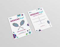 Mexican Menu Promotion Design