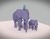 low poly animal practice in blender
