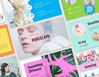 Porcelain fashion creative presentation