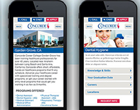 Concorde Mobile Website Design