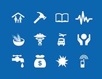 Humanitarian icons