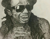 'lil Wayne - black pencil on paper