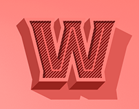Worker 3D Typeface