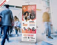 Business Seminar Roll Up Banner PSD